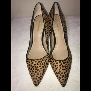 Shoes - Lord & Taylor Leopard Leather Pumps, Size 9